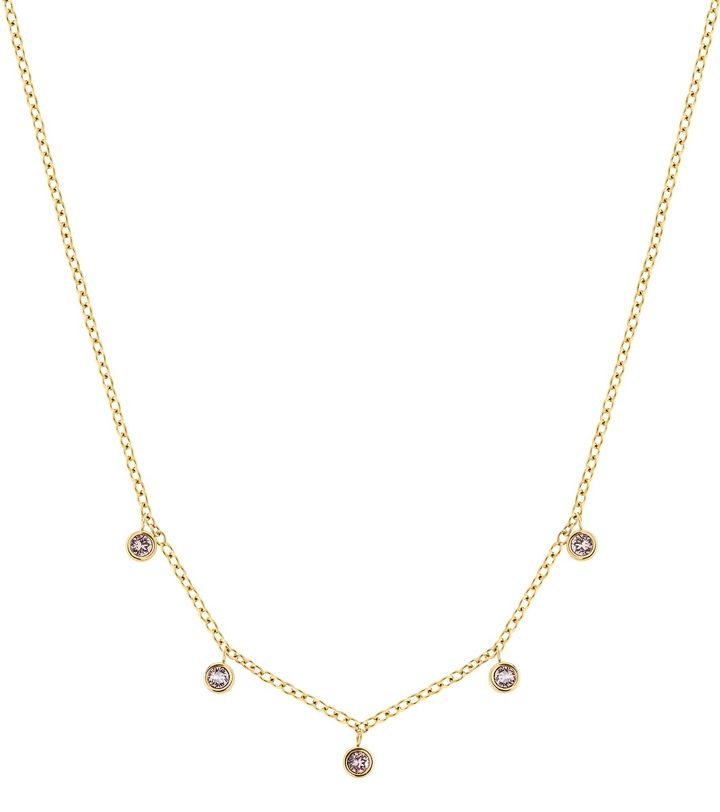 Dew Drop Necklace Multi Blush Gold