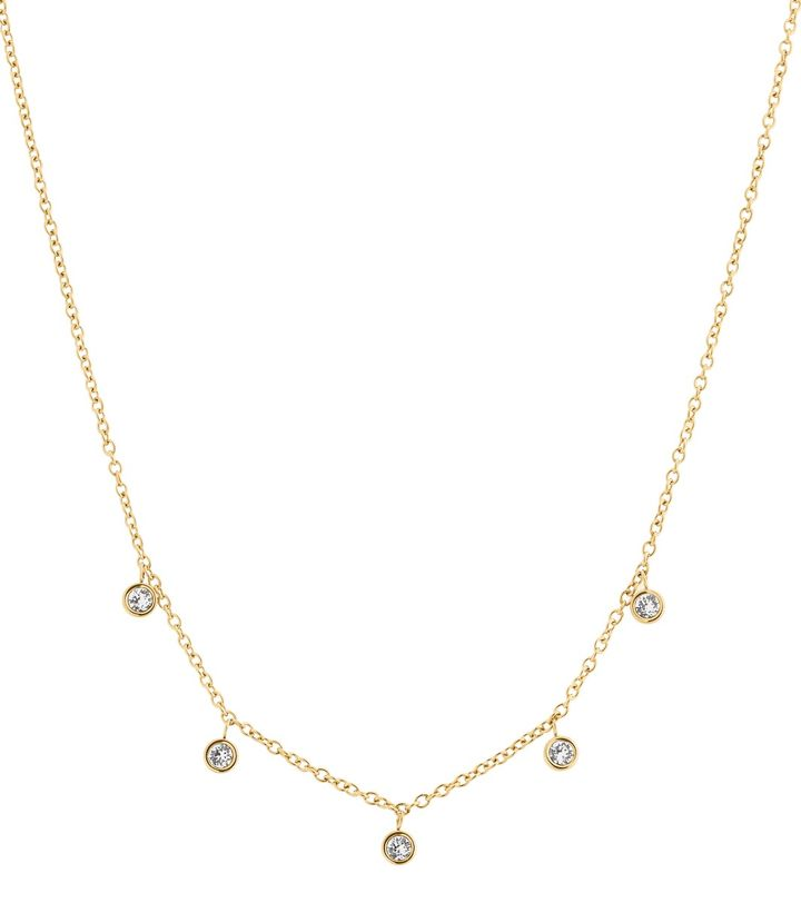 Dew Drop Necklace Multi Gold