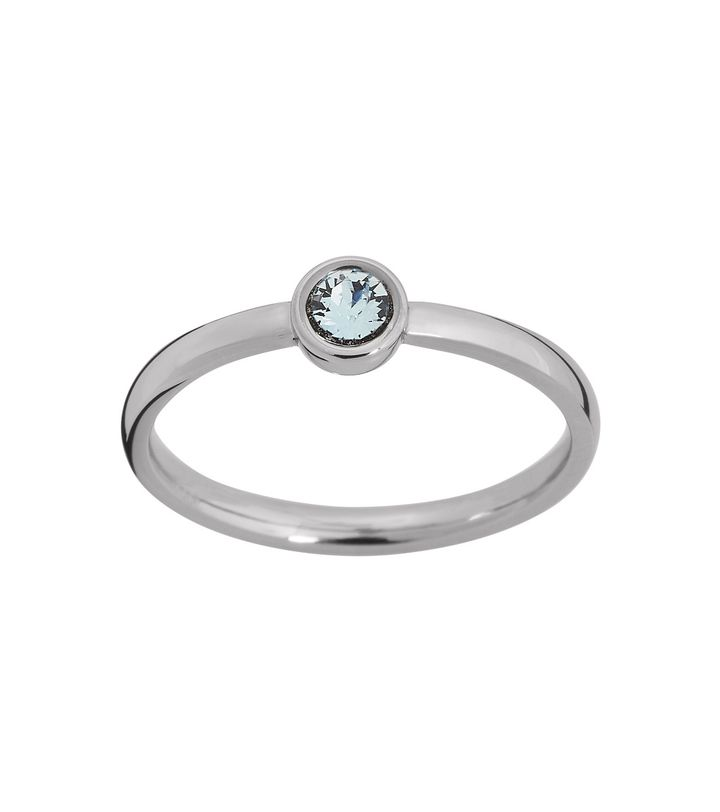 Dew Drop Ring Aqua Steel