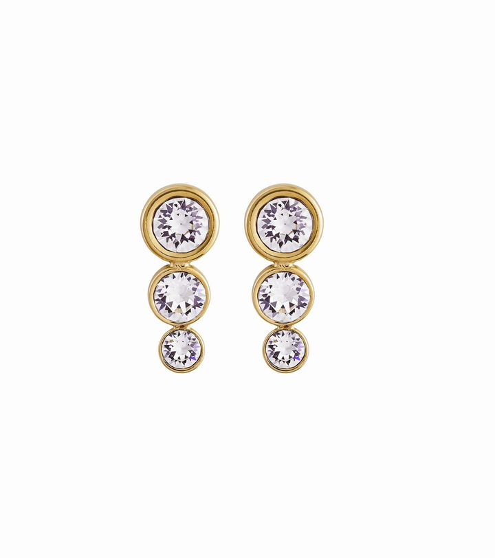 Dew Drop Studs Multi Gold