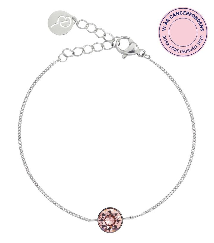 Diana Bracelet Bubble Gum Crystal Steel