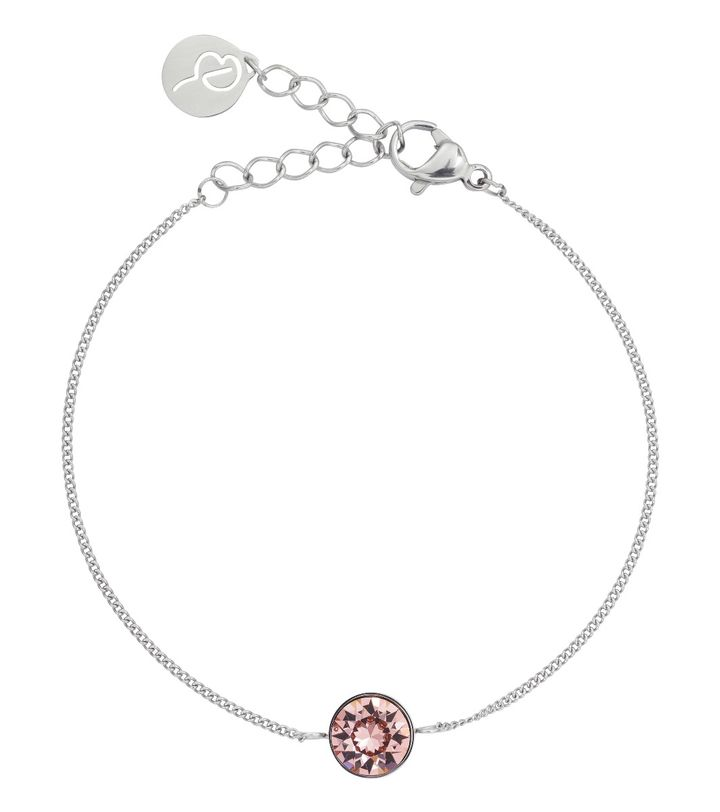 Diana Bracelet Bubble Gum Crystal Steel