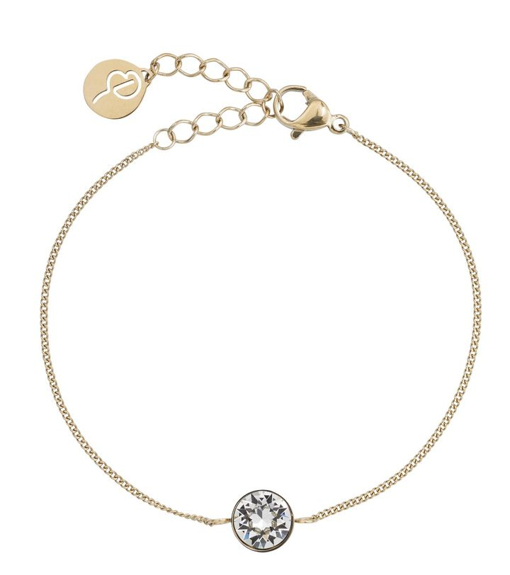 Diana Bracelet Clear Crystal Gold