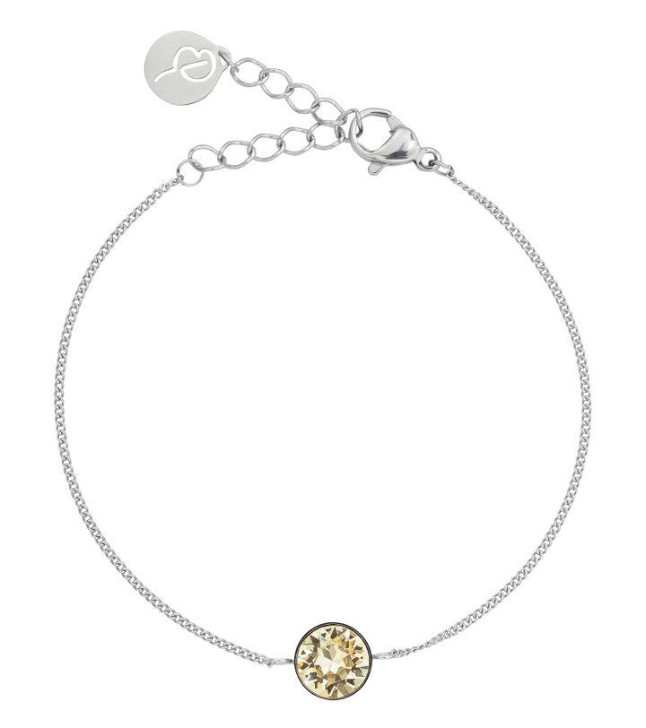 Diana Bracelet Lemon Sorbet Crystal Steel