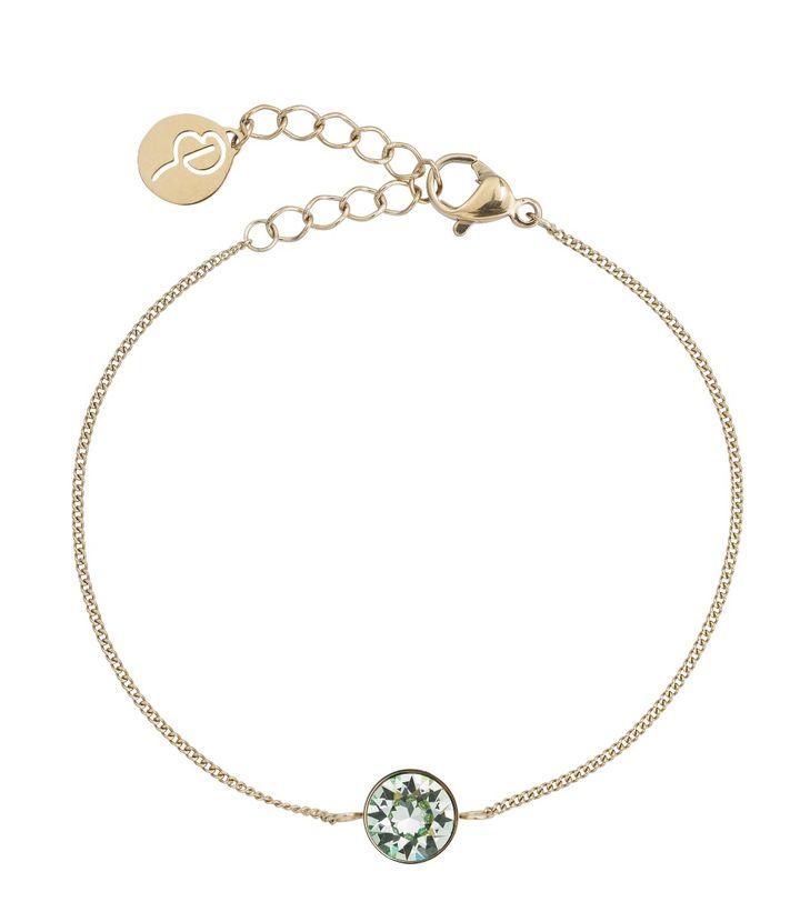 Diana Bracelet Pool Blue Crystal Gold