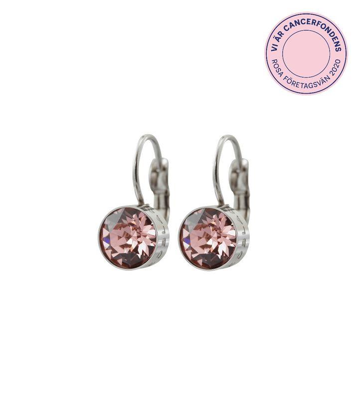 Diana Earrings Bubble Gum Crystal Steel