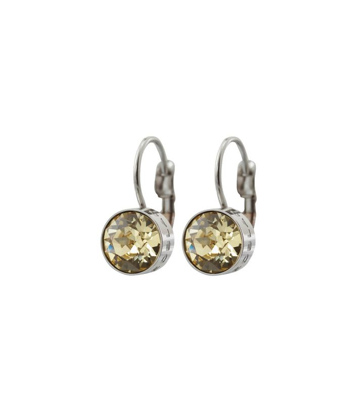 Diana Earrings Lemon Sorbet Crystal Steel