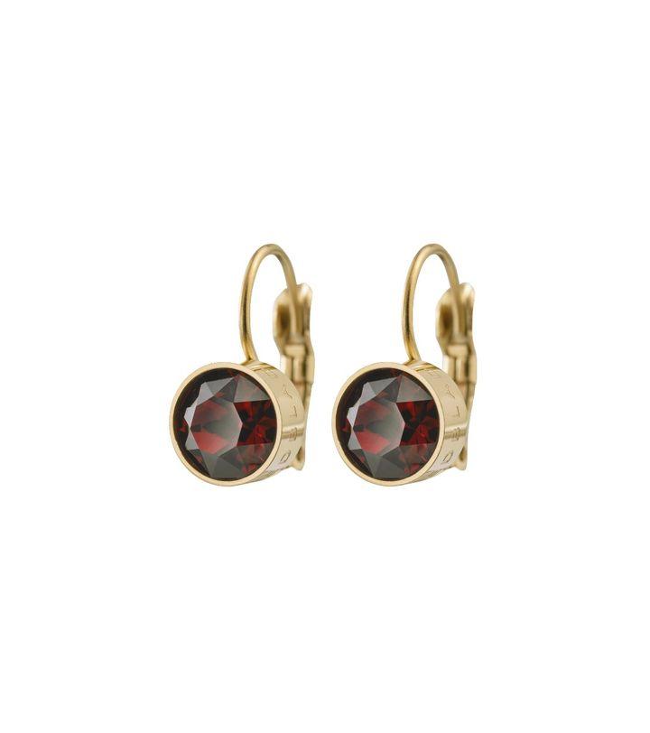 Diana Earrings Plum Gold