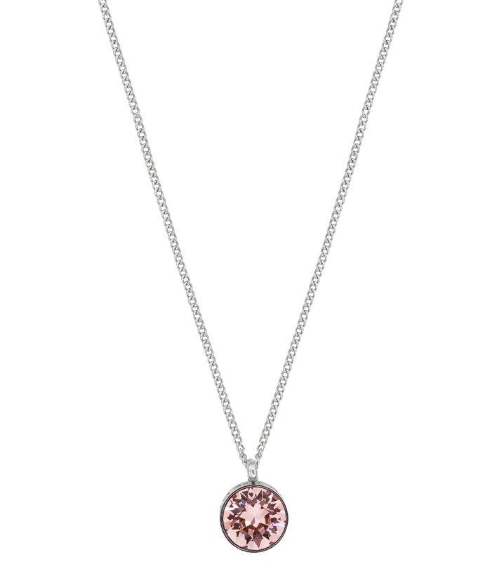 Diana Necklace Bubble Gum Crystal Steel