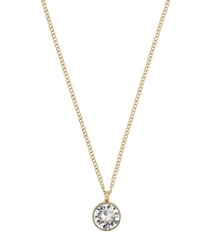Diana Necklace Clear Crystal Gold
