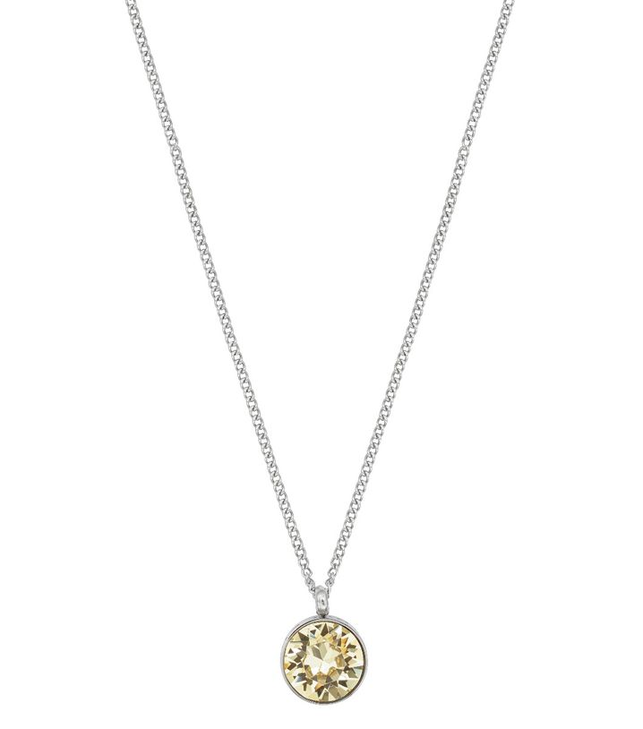 Diana Necklace Lemon Sorbet Crystal Steel