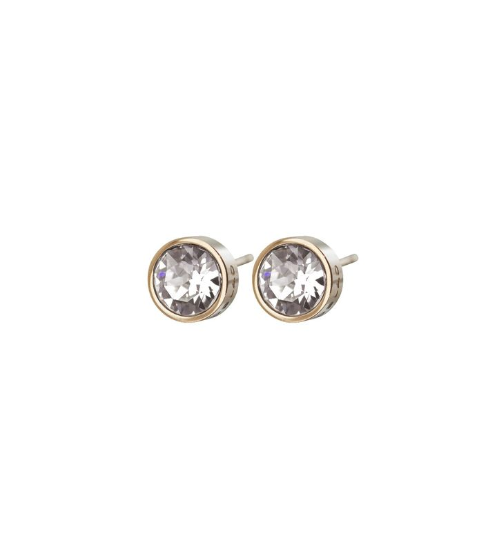 Diana Studs Clear Crystal Gold