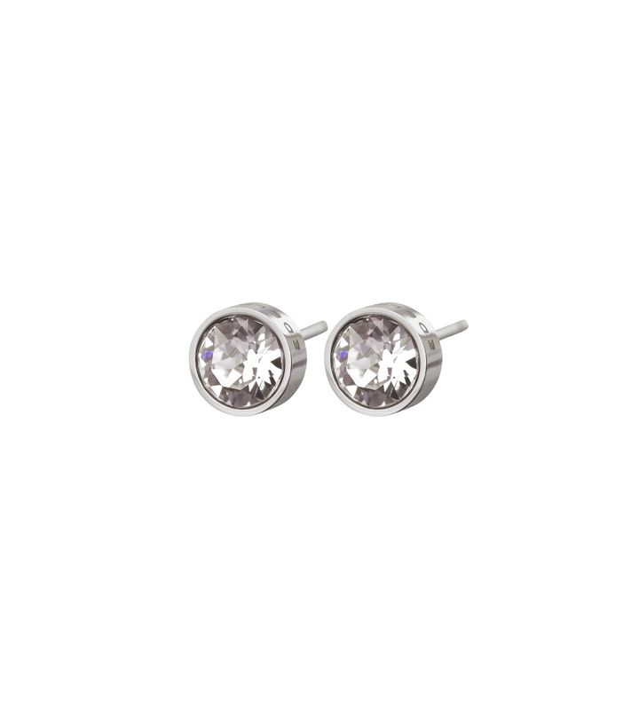 Diana Studs Clear Crystal Steel