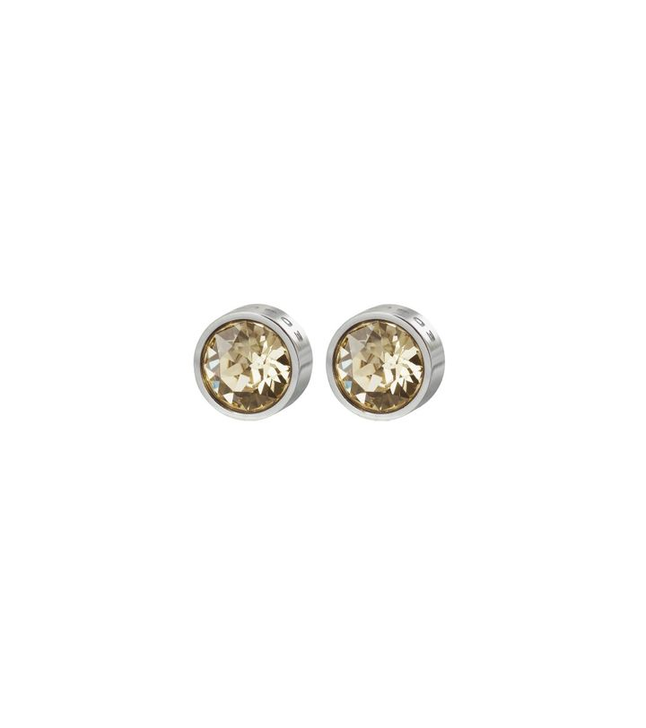 Diana Studs Lemon Sorbet Crystal Steel