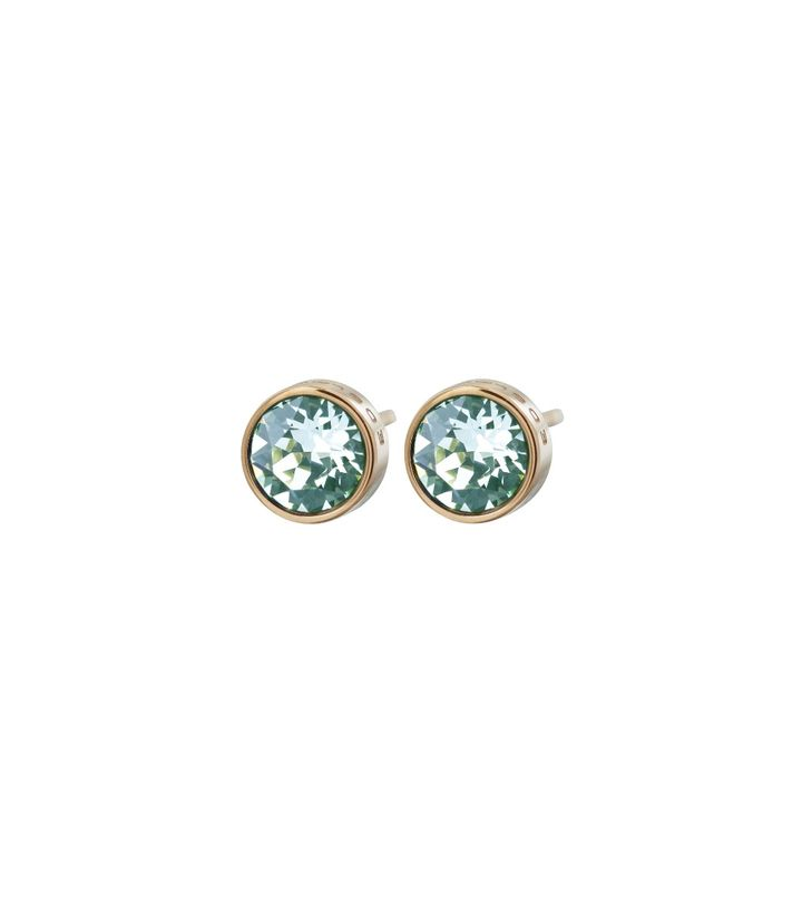 Diana Studs Pool Blue Crystal Gold