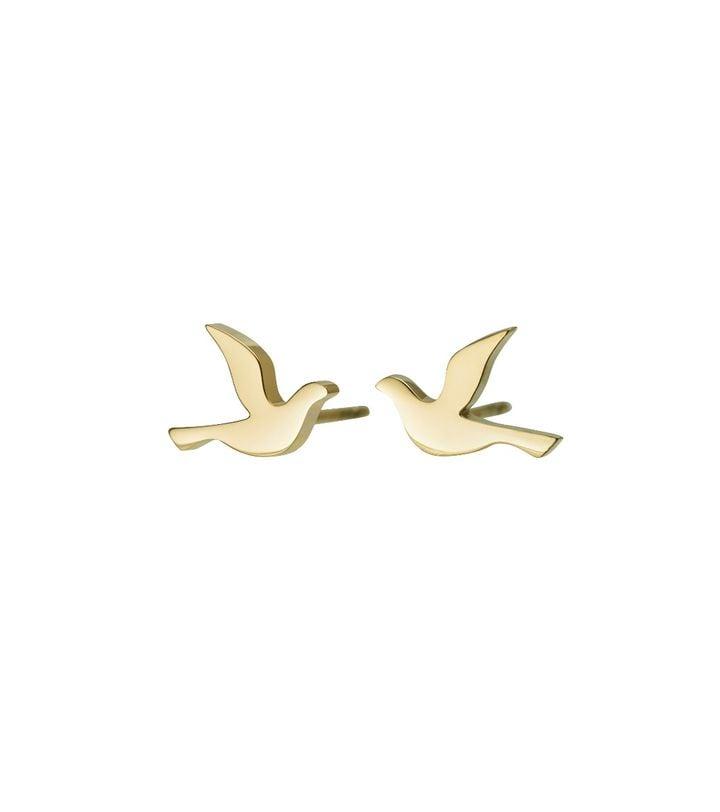 Dove Studs Small Gold