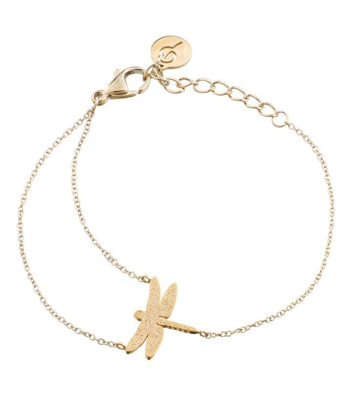 Dragonfly Bracelet Sparkle Gold