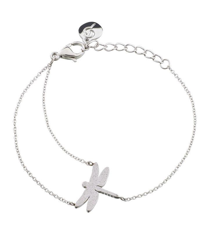 Dragonfly Bracelet Sparkle Steel