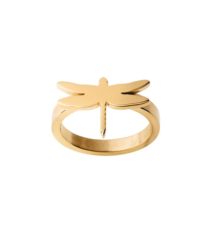 Dragonfly Ring Gold