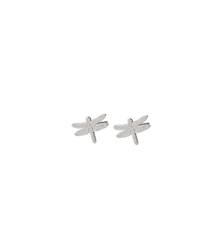 Dragonfly Studs Sparkle Steel