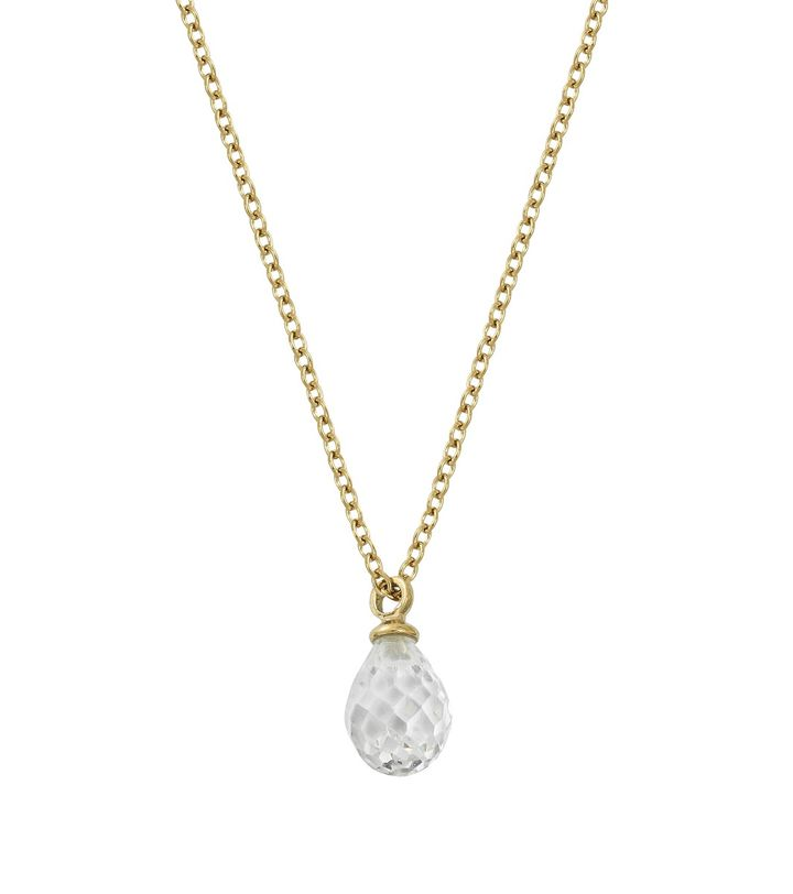 Drop Mini Necklace cz Gold