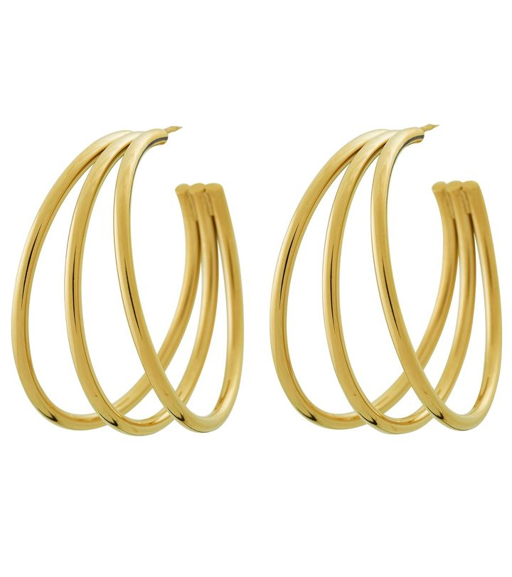 Echo Creole Earrings Gold