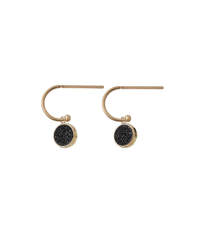 Estelle Earrings Black Gold