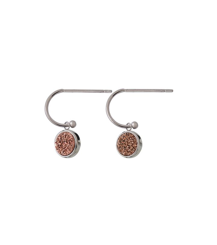 Estelle Earrings Rose Steel
