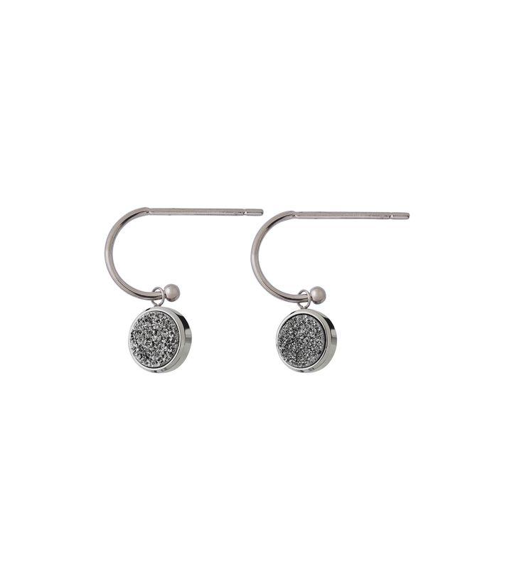 Estelle Earrings Silvery Steel