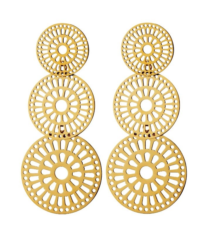 Farrah Earrings Large Gold