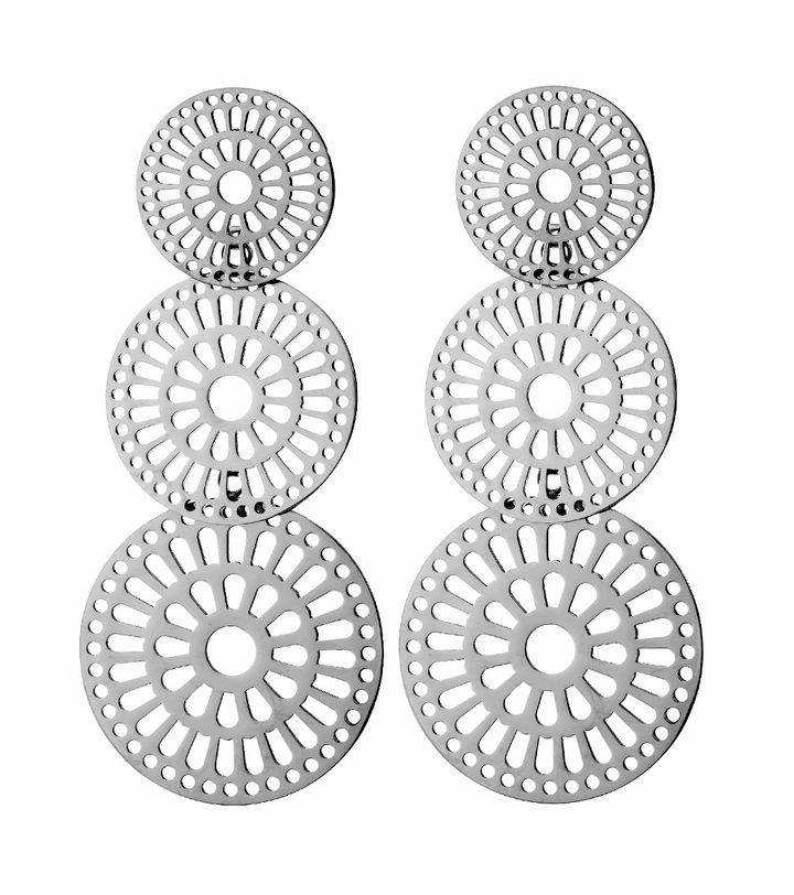 Farrah Earrings Large Steel