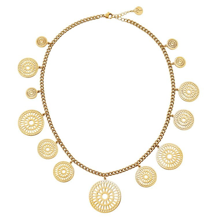 Farrah Necklace Multi Gold