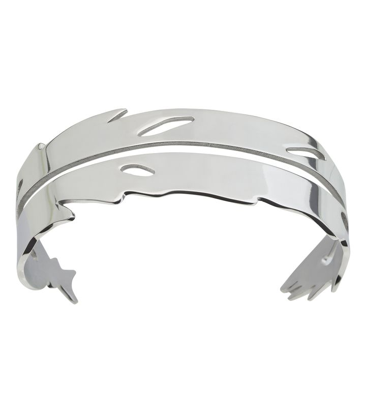 Feather Bangle Steel