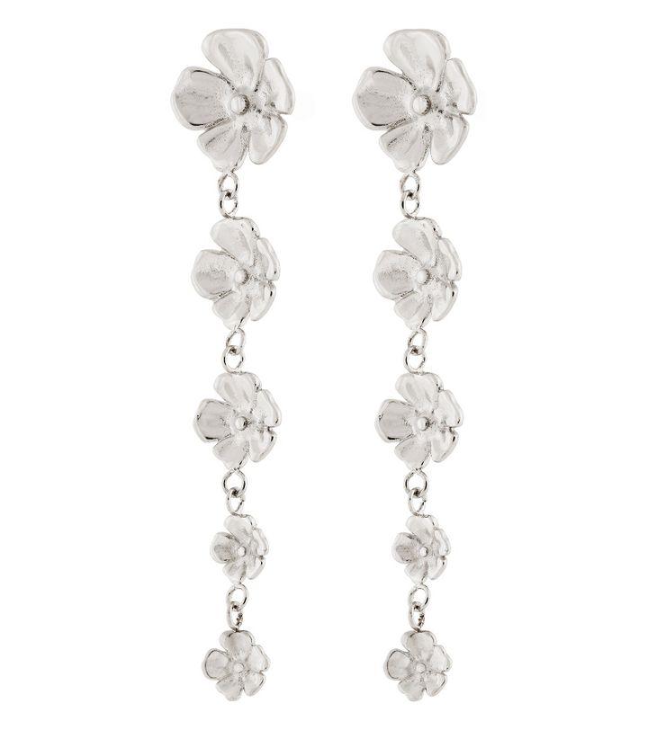Floral Earrings Steel