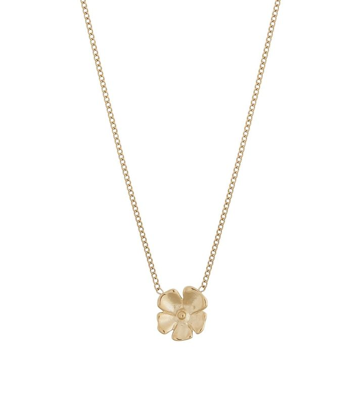 Floral Necklace Gold