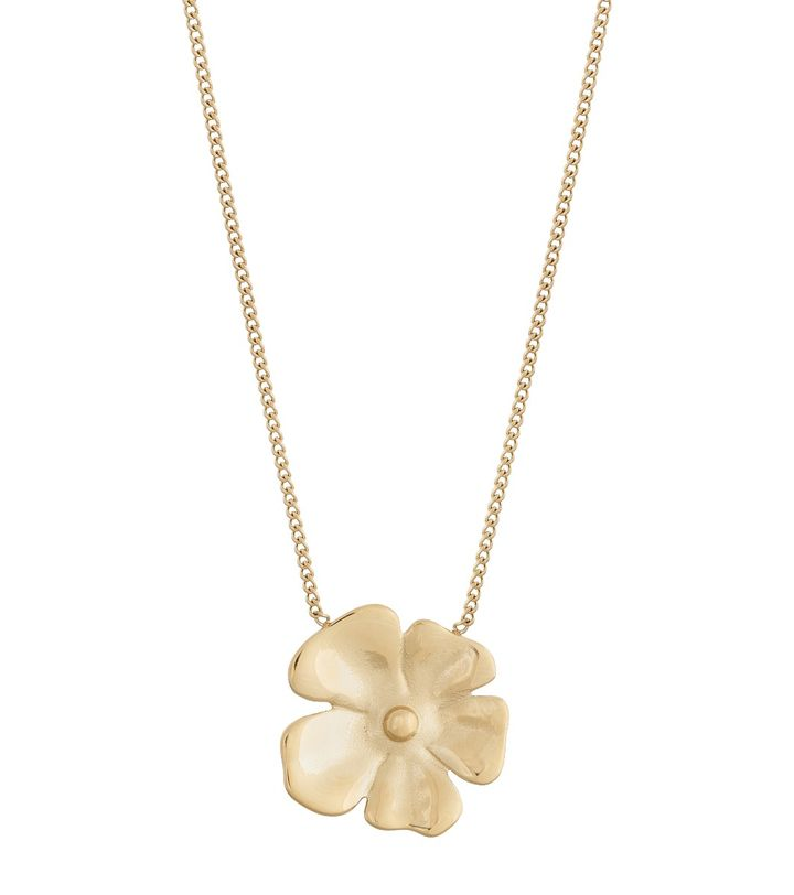 Floral Necklace L Gold