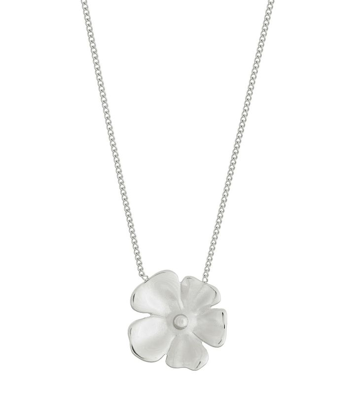 Floral Necklace L Steel