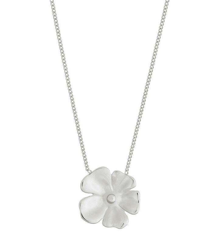 Floral Necklace L Steel