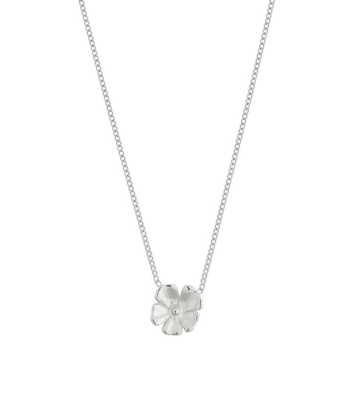 Floral Necklace Steel