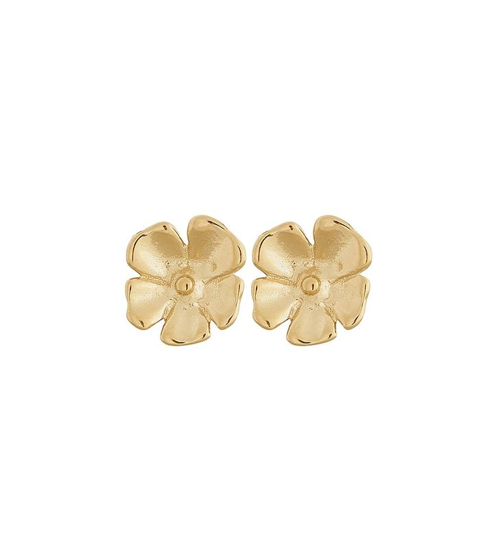 Floral Studs S Gold