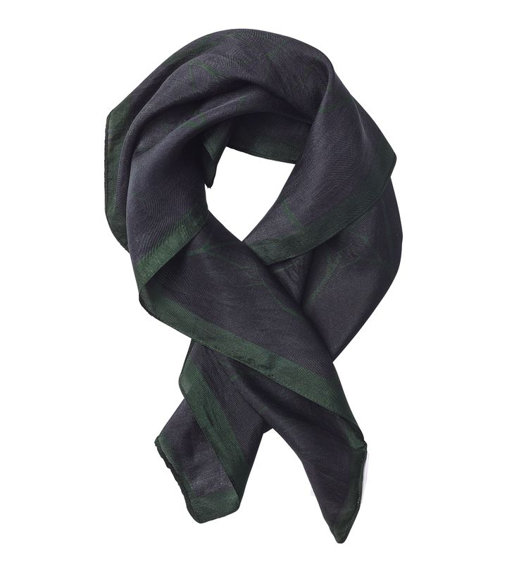 Forest Silk Scarf Black