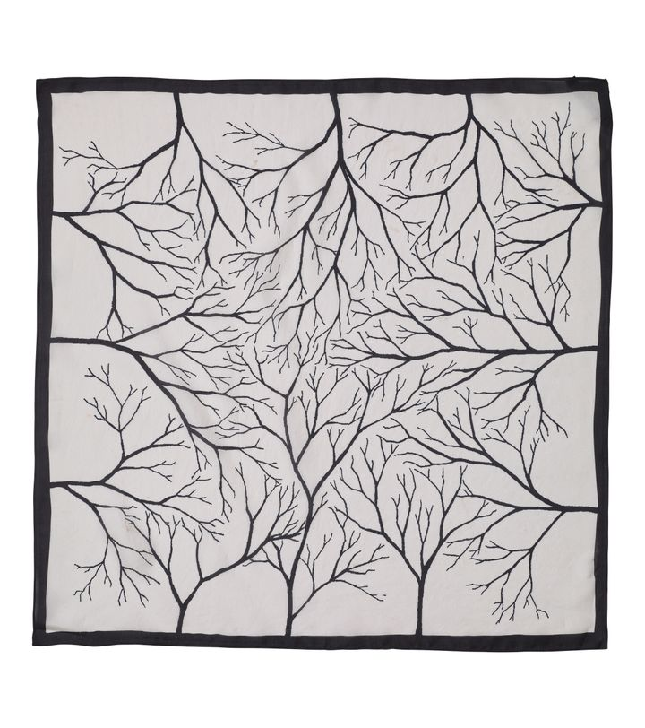Forest Silk Scarf Off White