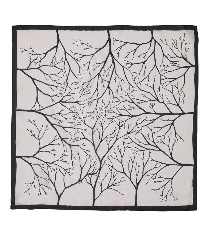 Forest Silk Scarf Off White
