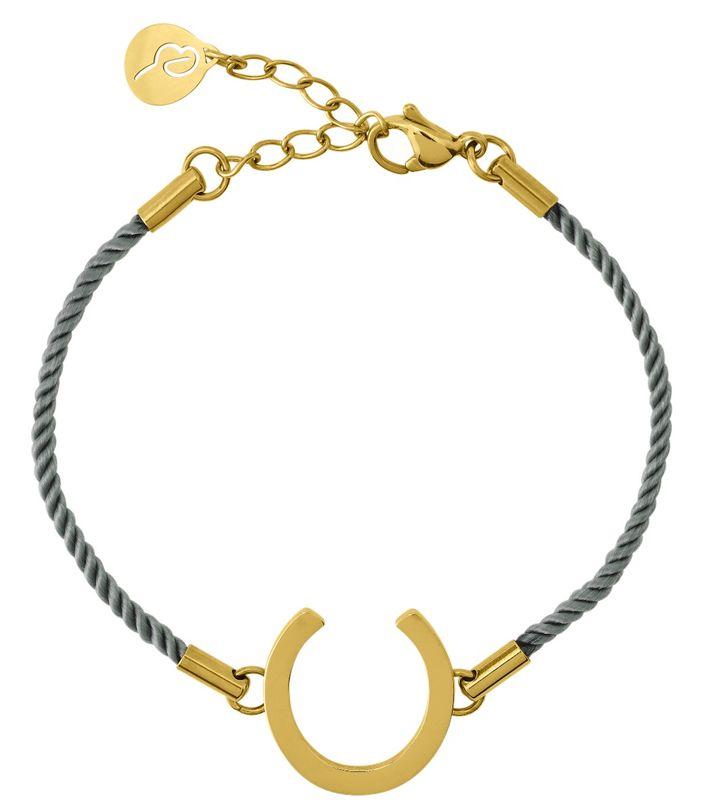 Fortune Bracelet Cord Sky Blue Gold