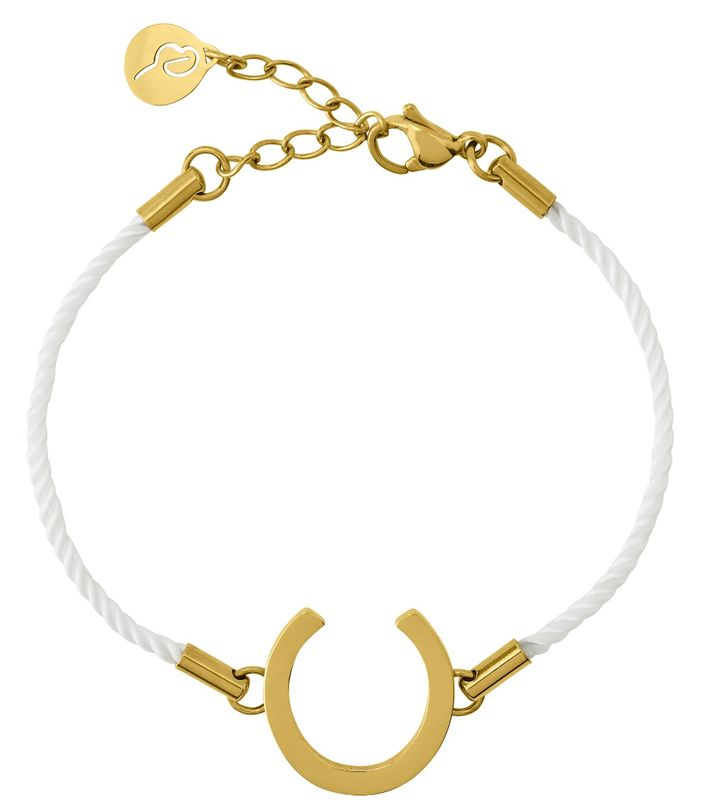 Fortune Bracelet Cord White Gold