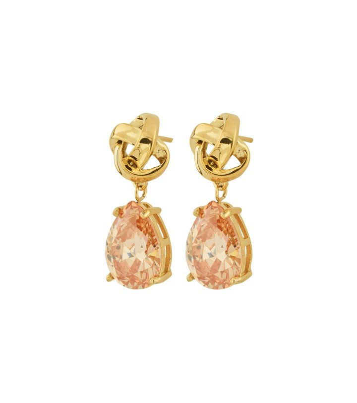 Gala Earrings Champagne Gold