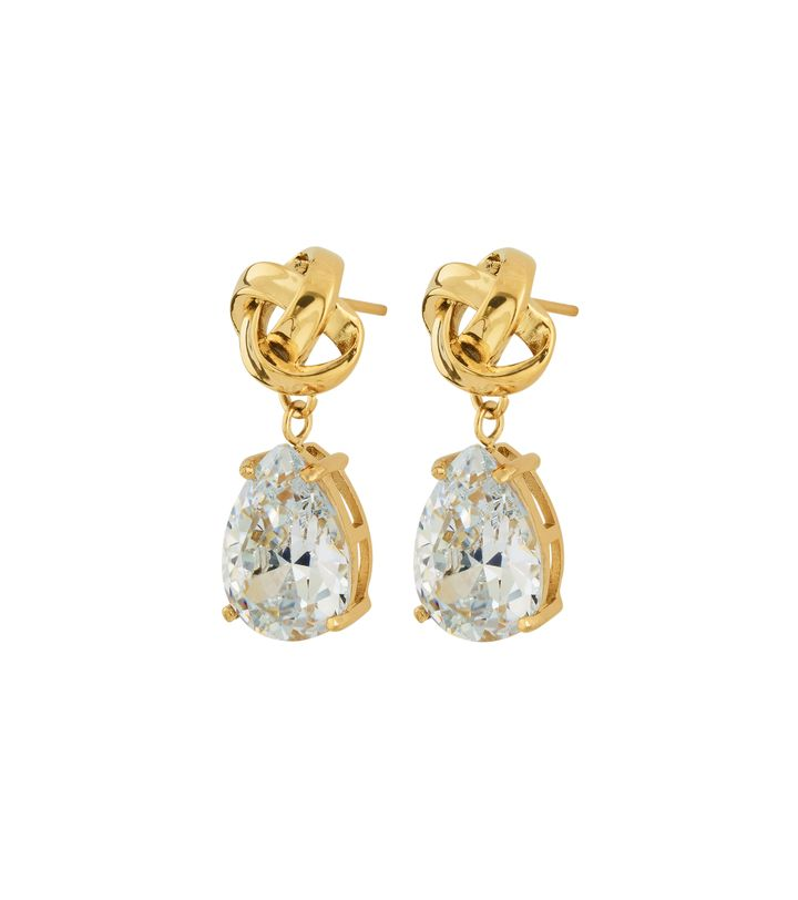 Gala Earrings cz Gold
