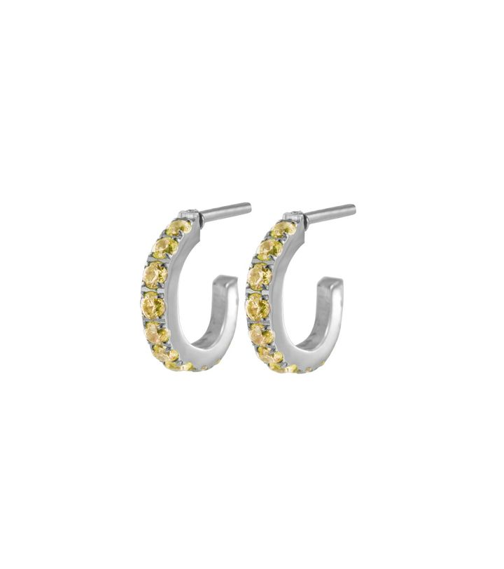 Glow Earrings Micro S Lemon Sorbet Steel