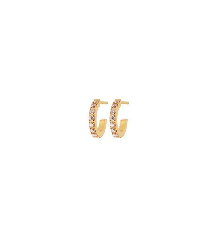 Glow Earrings Mini Blush Gold