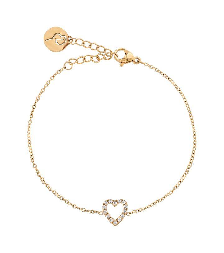 Glow Heart Bracelet Gold